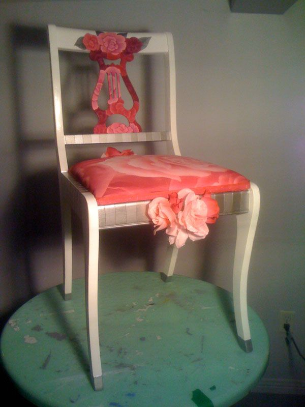 """""""Pretty in Pink"""" chair"""