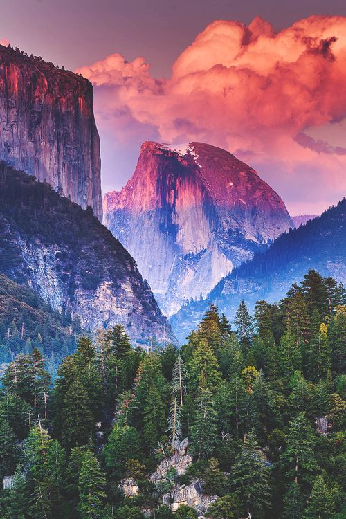 half-dome sunset, yosemite national park | nature + landscape photography #adventure
