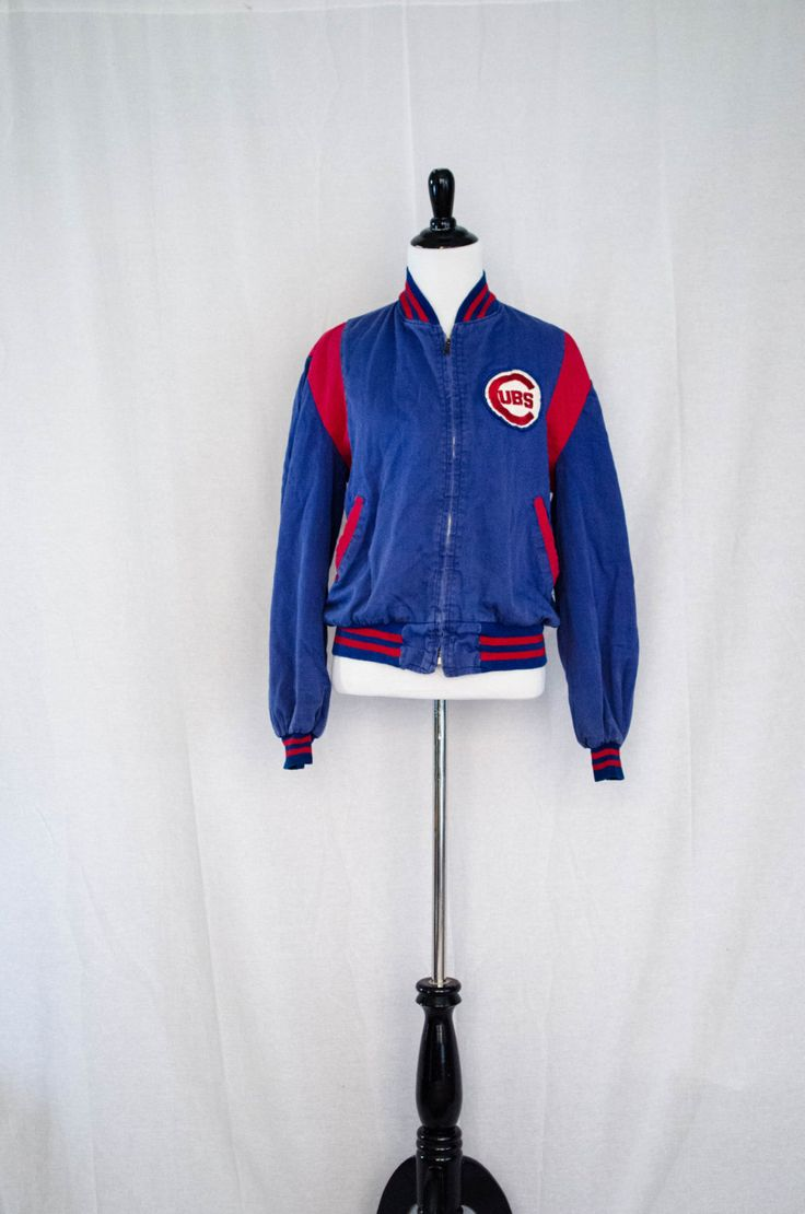 Vintage 1970's 'Spring Training' Chicago Cubs Embroidered Baseball Jacket Size S / M by BeehausVintage on Etsy