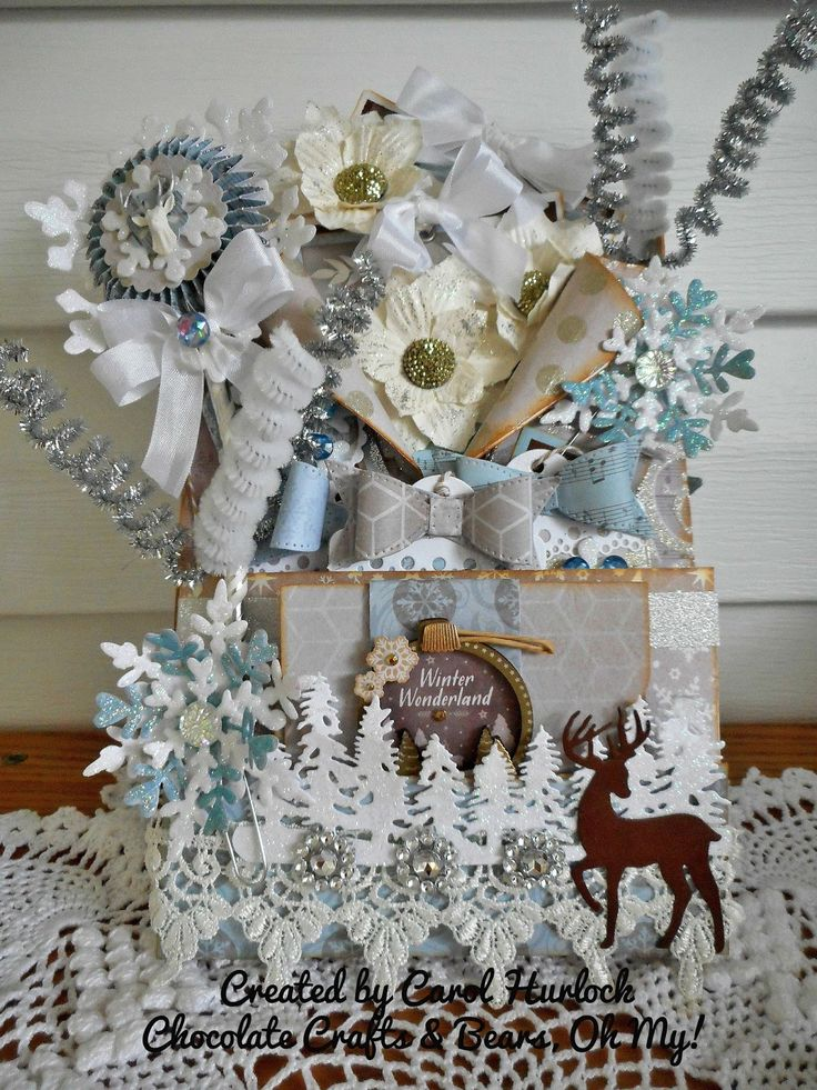Hello Crafty Friends! This is a Winter Wonderland Loaded Envelope for practice....of course....it's my first one!!! I loved doing it. Pl...