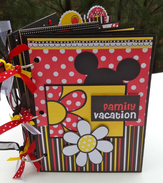 Disneylike Mini Album Scrapbook Kit or Premade by ArtsyAlbums