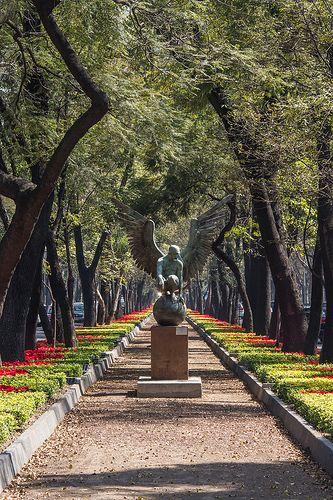 Mexico City. Chapultepec castle park