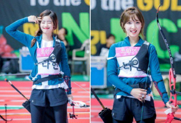 Idol Star Athletics Championship Unveils Photos Of Red Velvet And Twice Participating In The Archery Competition Archery Competition Athlete Competing