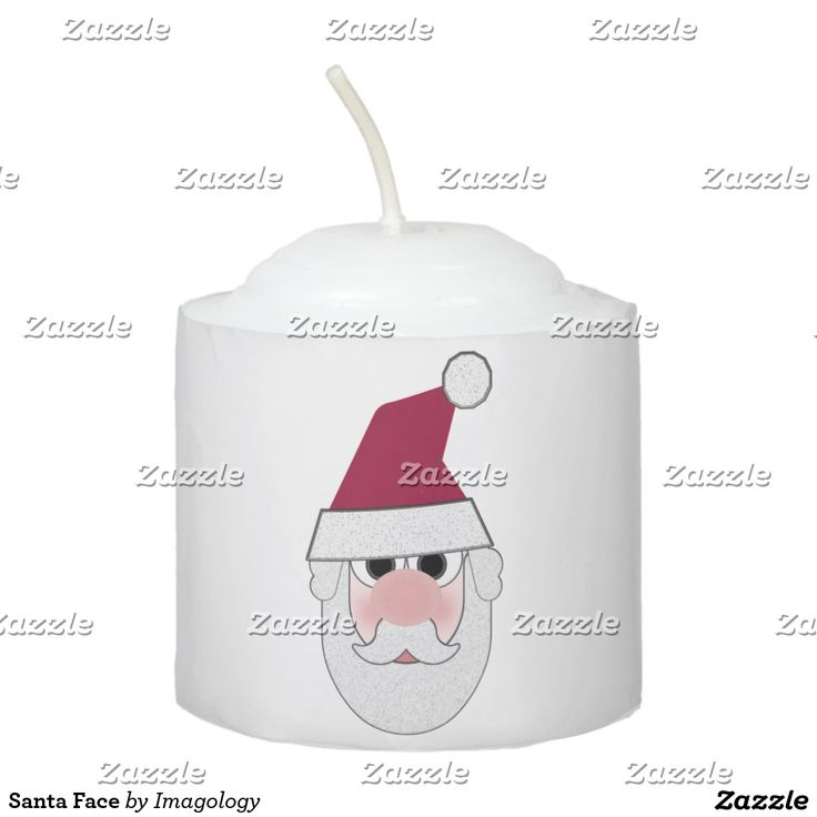 Santa Face Votive Candle