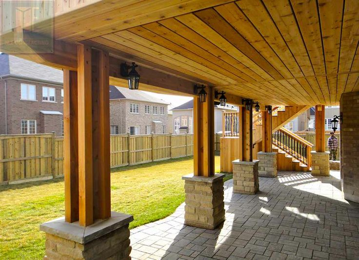18 best images about 2 level cedar deck with wrought iron for Walkout basement patio