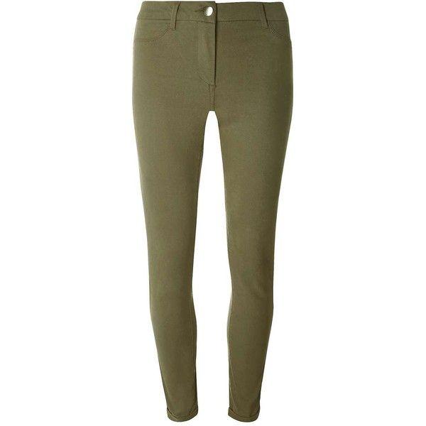 Dorothy Perkins Khaki Sateen Chino Trousers ($45) ❤ liked on Polyvore featuring pants, khaki, khaki pants, skinny trousers, brown khaki pants, brown pants and skinny khaki pants