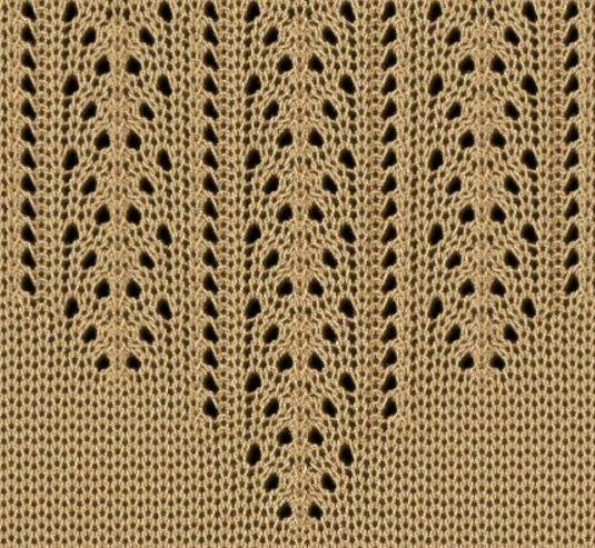 Openwork knitting needles