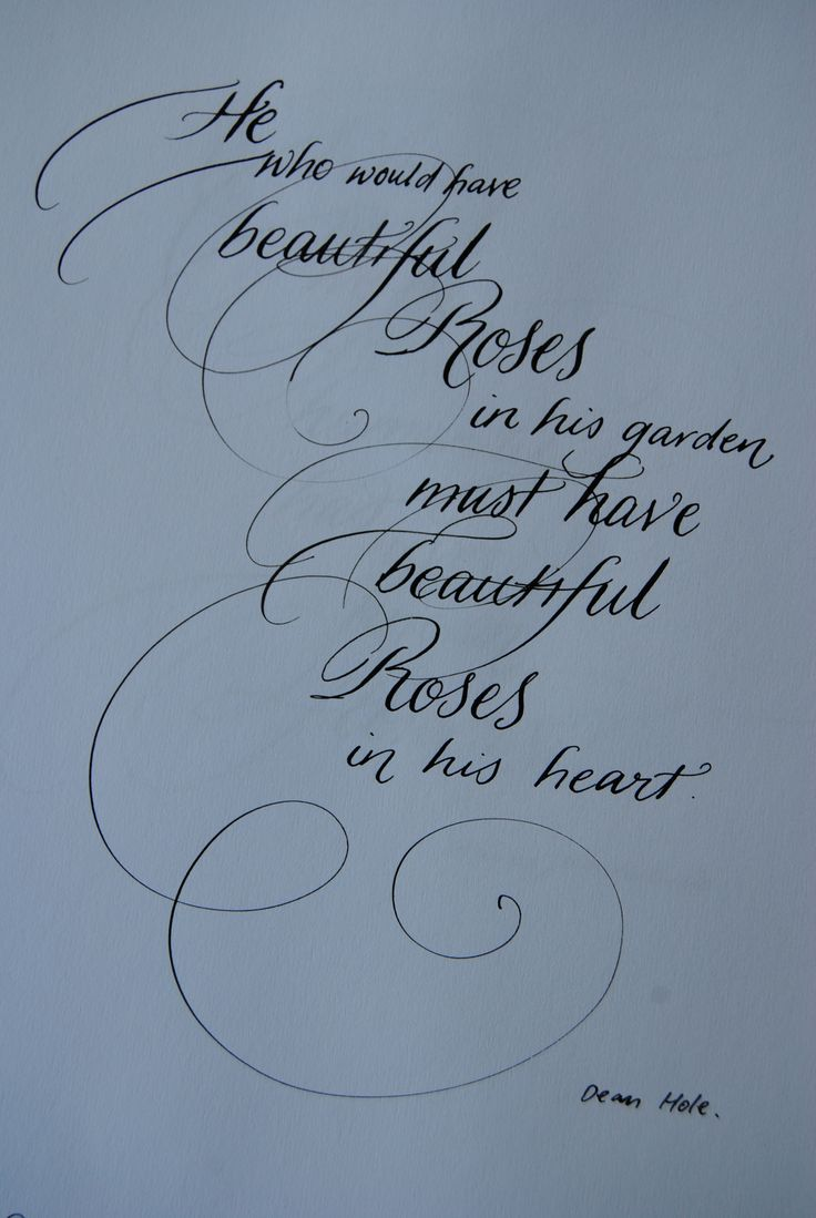 Calligraphy by copperplate and Judith Ann.ww.beautifulwriting.com.au