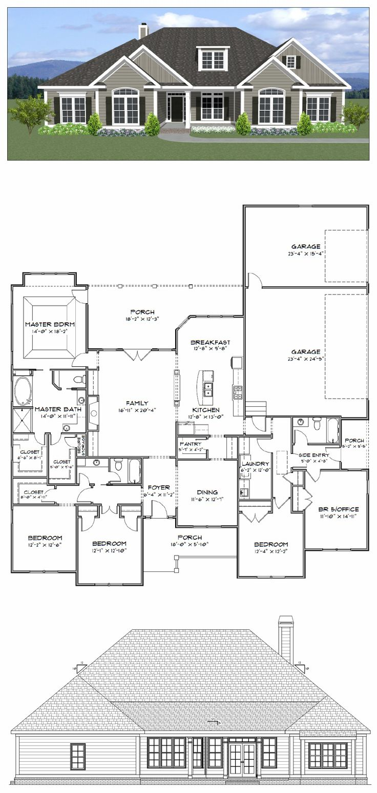 best 25 3 car garage plans ideas on pinterest 3 car garage plan 4 or 5 bedroom 3 bath home with a 3 car garage the home has 2700 heated square feet