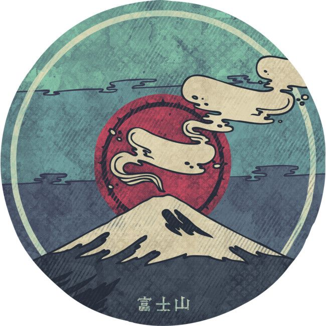 Fuji is a Sticker designed by againstbound to illustrate your life and is available at Design By Humans