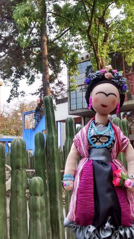 Frida en el Museo Diego Rivera en San Ángel. Proyecto Sonia Ramón.
