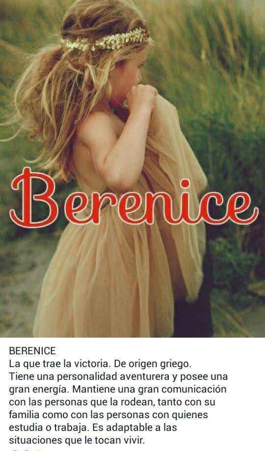 Nombres para niñas y su significado. Berenice