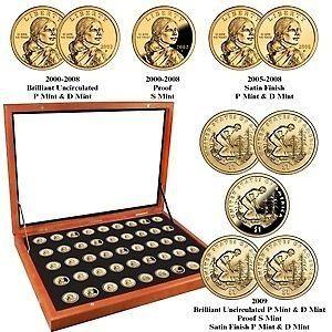 2000-2009 40-piece Complete Sacagawea Dollar Set  NEW