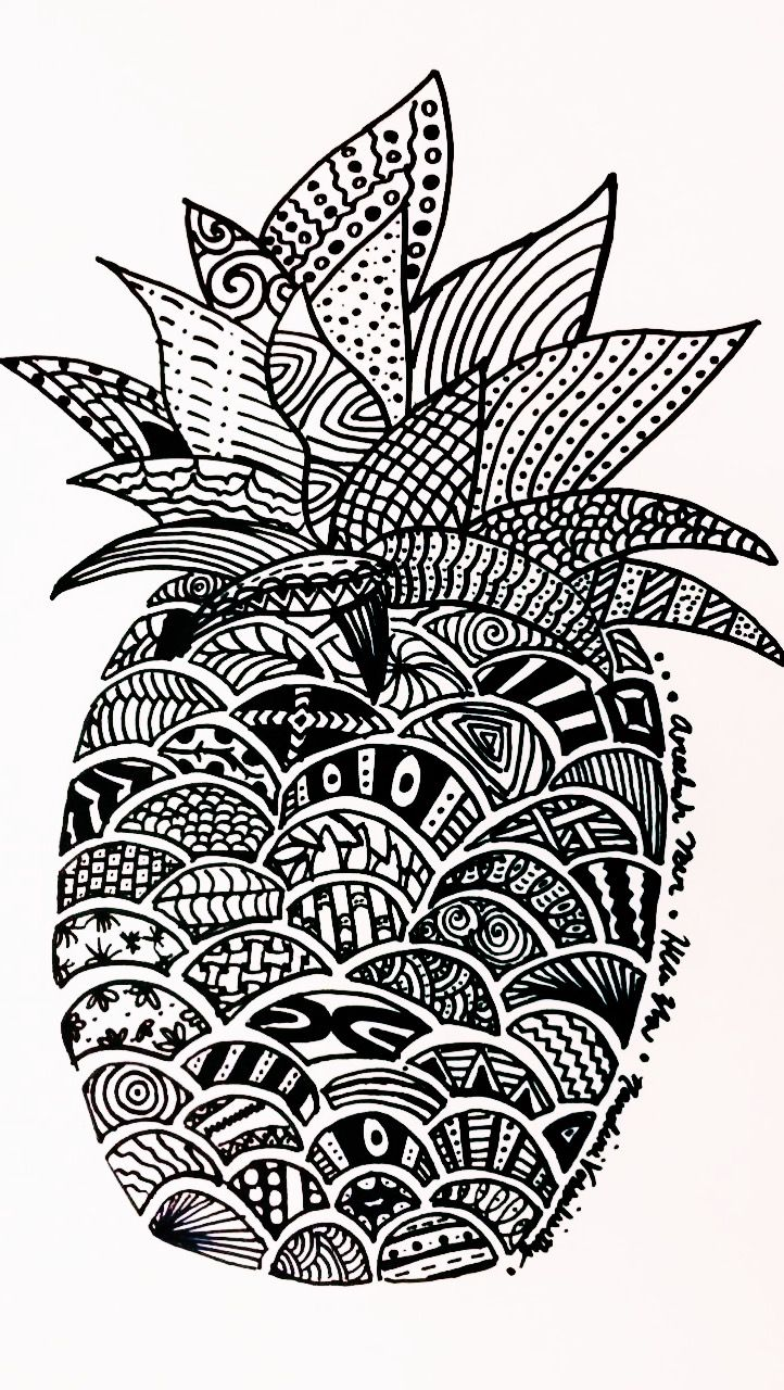 Pineapple zentangle