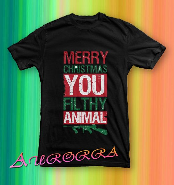 merry christmas ya filthy animal armytshirt for men by paseosoft