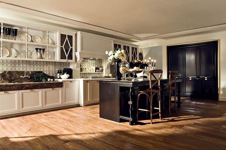 Oltre 25 fantastiche idee su Cucine in bianco e nero su Pinterest  Colori per mobili cucina ...
