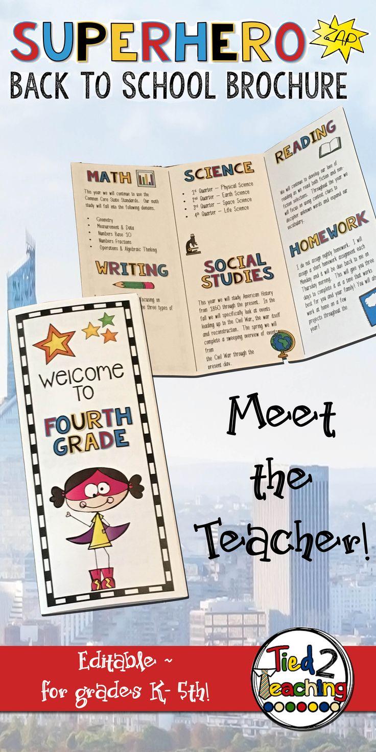 25 Best Ideas About Teacher Brochure On Pinterest Open