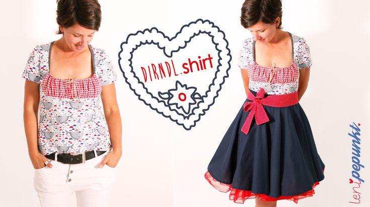 DIRNDL shirt • Schnittmuster • Nähanleitung • DIY • Oktoberfestmode • leni pepunkt • sewing pattern • Bavarian shirt • Octoberfest