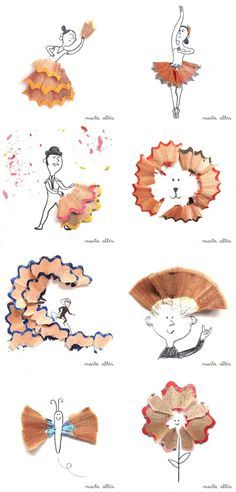 Oh, all the things you can do with pencil shavings!
