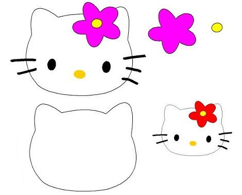 patrones-fieltro-hello-kitty-flor  - Patrones Hello Kitty