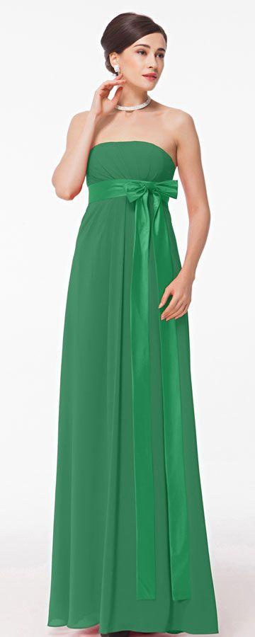 Green maternity evening dress strapless formal dress for pregnant wedding guest dresses