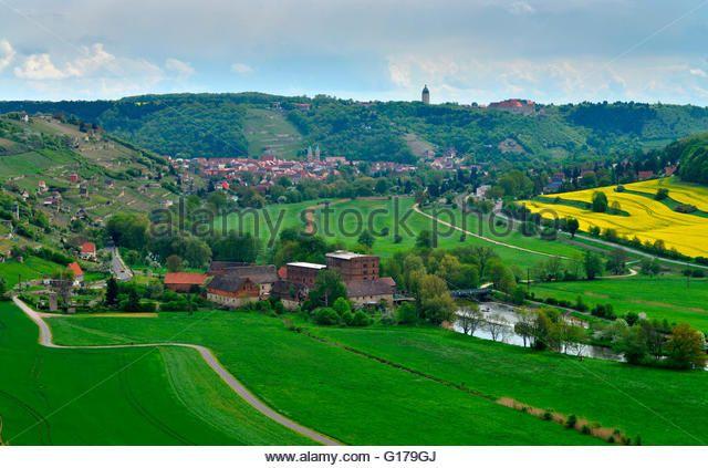 Unstrut Valley, Freyburg, Saxony-Anhalt, Germany - Stock Image