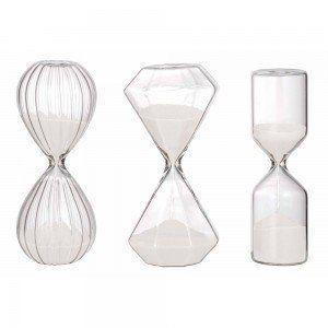 Set of 3 Geometric Hourglasses