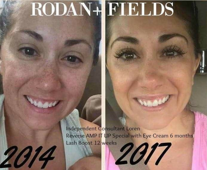 """✨Transformation Tuesday ✨  Wow!! Check out Loren's STUNNING results using Rodan + Fields Award Winning skincare!!! I'm blow away by her LASHES... but just look at that RADIANT complexion!!!  """"Holy Monday! This morning I was going through old pics and came across this pic from 2014. To be fair, I do have peptides and mascara on in the recent pic but there has clearly been an improvement in my skin!! The funny thing is that back then I didn't think I had """"bad skin."""" It just goes to sho"""
