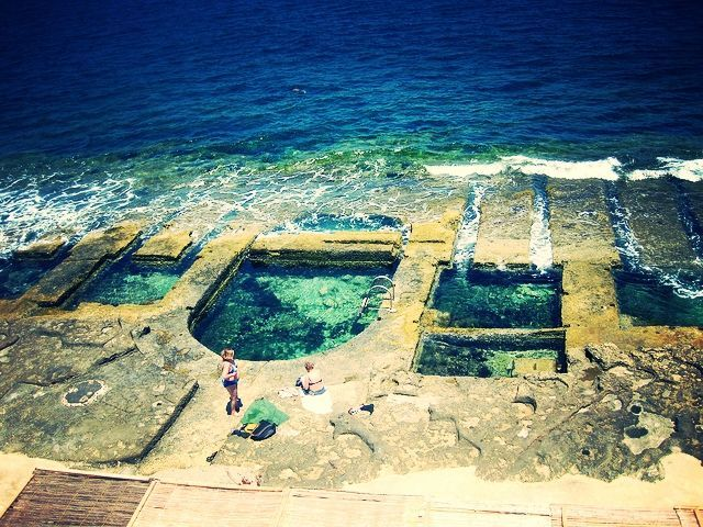 Las piscinas naturales de sliema estudiar ingl s en for Piscinas naturales