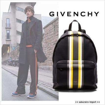 ●GIVENCHY カラーブロック イエローストライプ バックパック ジバンシー 2016-2017 ファッション