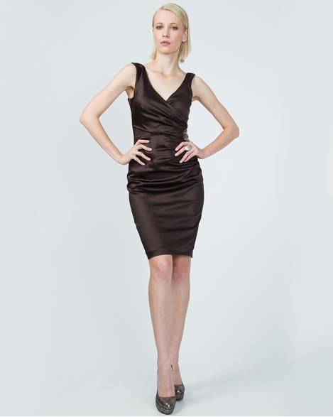 Fitted Satin Cocktail Dress Fashion I Love Pinterest Satin