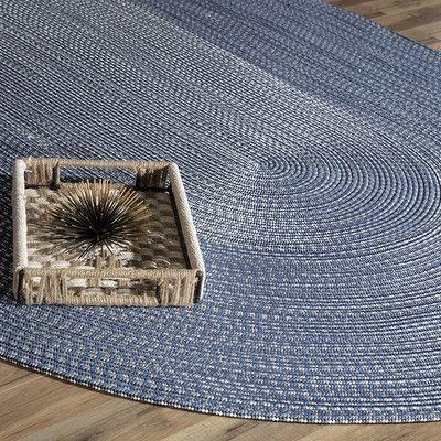 Rugs America Colony Blue Area Rug Rug Size: Oval 8' x 11''