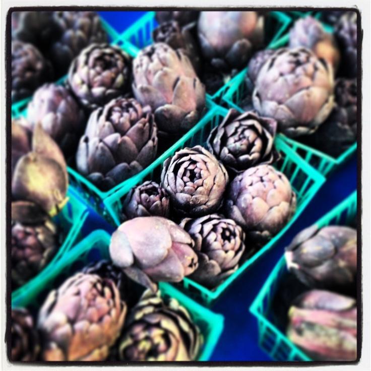 Mini Artichokes at the South Pasadena farmers market