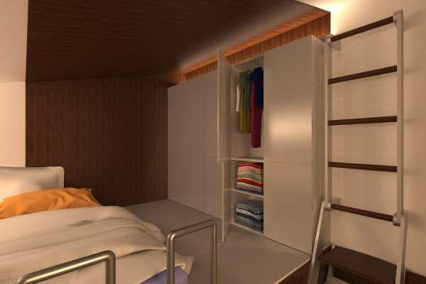 Reset House loft storage, by http://SteveHallArchitecture.com
