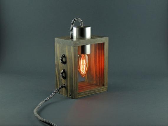 Desk Lamp Lp 2 B Table Lamp Steampunk Lamp Wooden Lamp Edison Lamp Unique Lamp Industrial Lamp Dimmer Lamp In 2020 Wooden Lamp Steampunk Lamp Desk Lamp