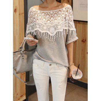 Mujeres Handmade Crochet Cabo de cuello camiseta para Vender - La Tienda En Online IGOGO.ES