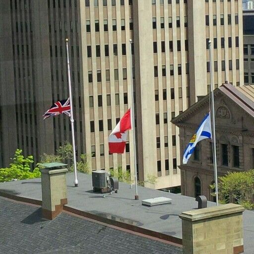 NS Legislature flags at half mast today. #loveyoumoncton
