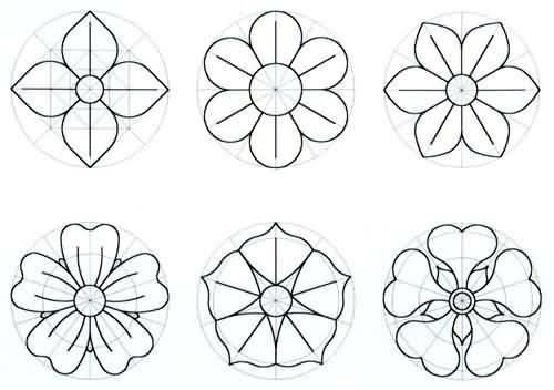 Molde de flores para imprimir - Imagui