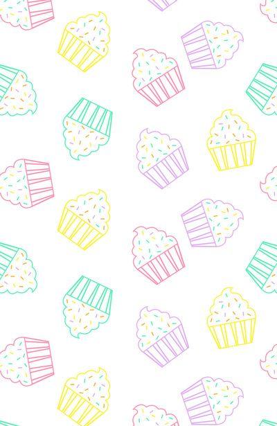 Cupcake dulce colores comida
