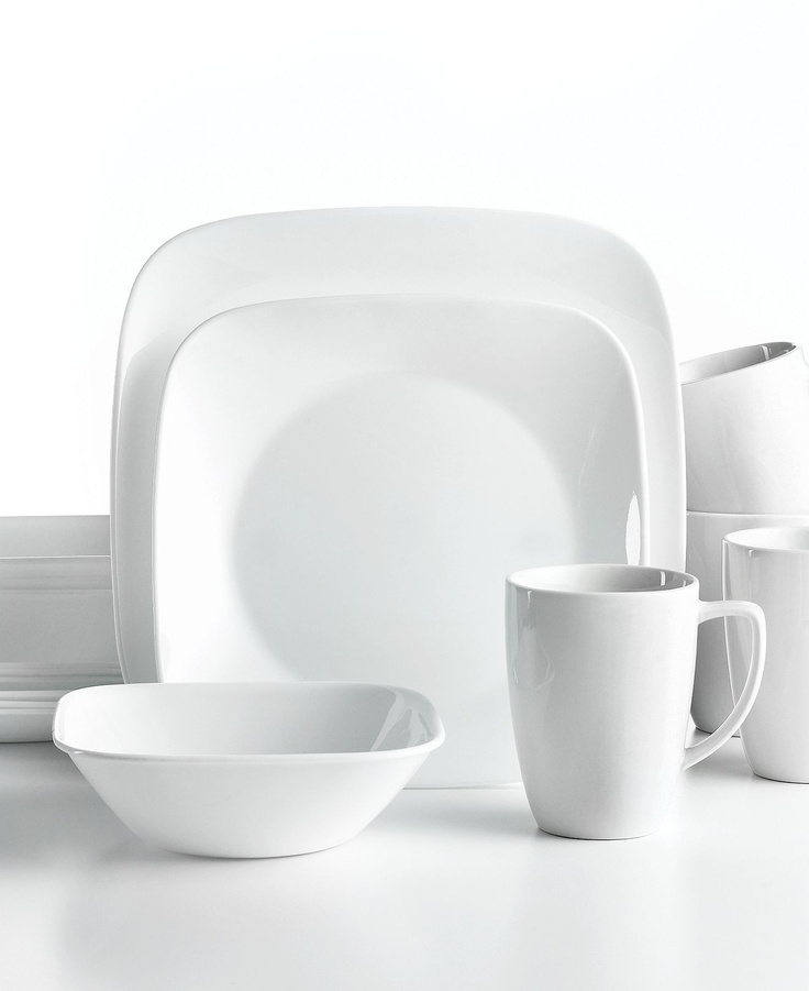 #Corelle Vivid White Square dinnerware. Ultra-sturdy plates bowls and mugs offer  sc 1 st  Pinterest & 53 best Where To Buy images on Pinterest | Dish sets Dinnerware ...