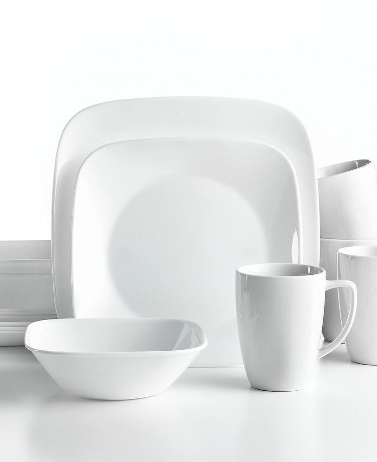 corelle vivid white square dinnerware ultra sturdy