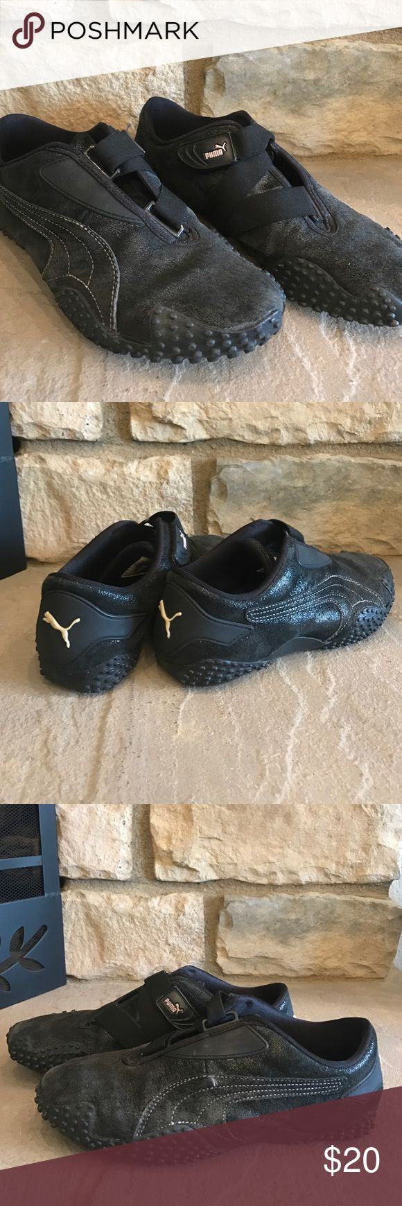 🦋Puma Tennis Shoes🦋 Black Puma shoes, in good condition. Velcro strap. Shoes are comfy. Used but in good shape. No tears, etc. Puma Shoes Sneakers
