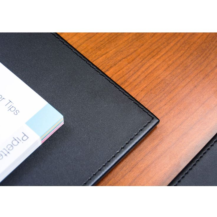 Black Leatherette Conference Table Pad, With Stitching