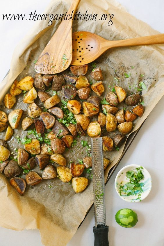 Roasted Mexican Potatoes with Cilantro Gremolata