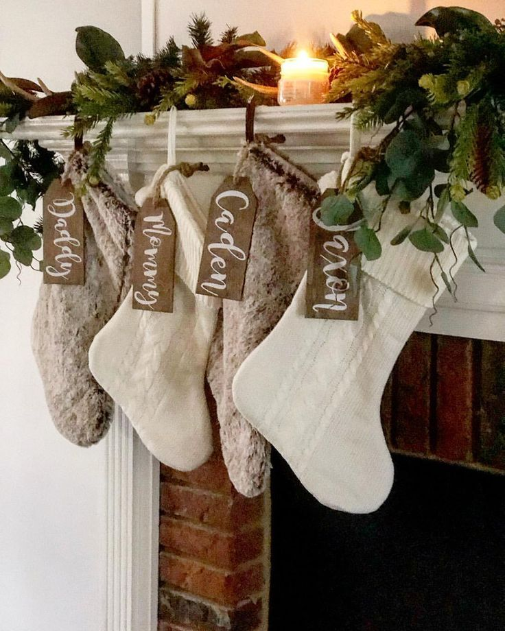 These personalized stockings are perfect for my Farmhouse