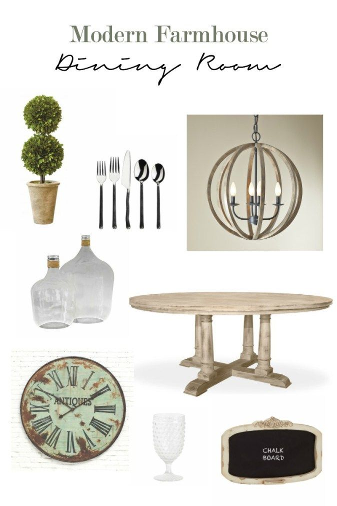 Ideas to help you style your modern farmhouse dining room.