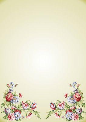 Hojas de papel con diseño para cartas ~ Solountip.com
