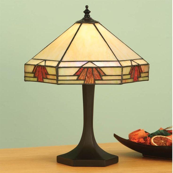 Lampada Tiffany da Tavolo o da Scrivania Gialla