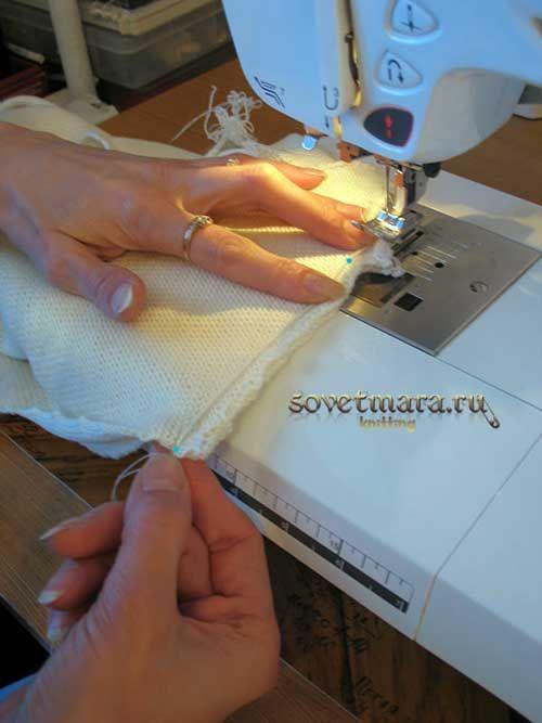 Обработка плечевых швов на вязаном изделии. Усилитель для плечевого шва.