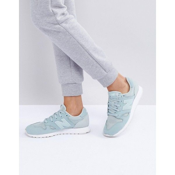 New Balance 520 Suede Trainers In Mint Green (565 HRK) ❤ liked on Polyvore featuring shoes, sneakers, green, suede sneakers, new balance sneakers, mint green sneakers, new balance trainers and low profile sneakers